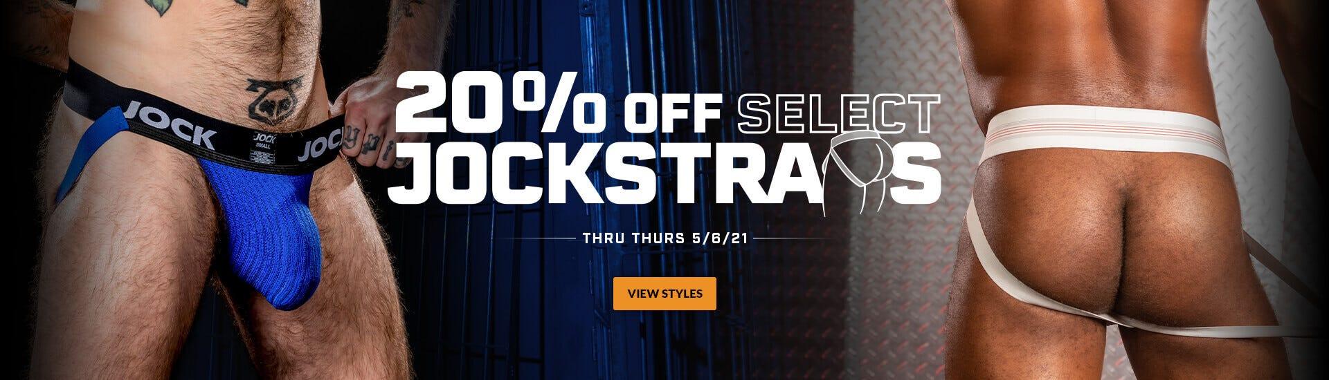 20% Off Select Jockstraps