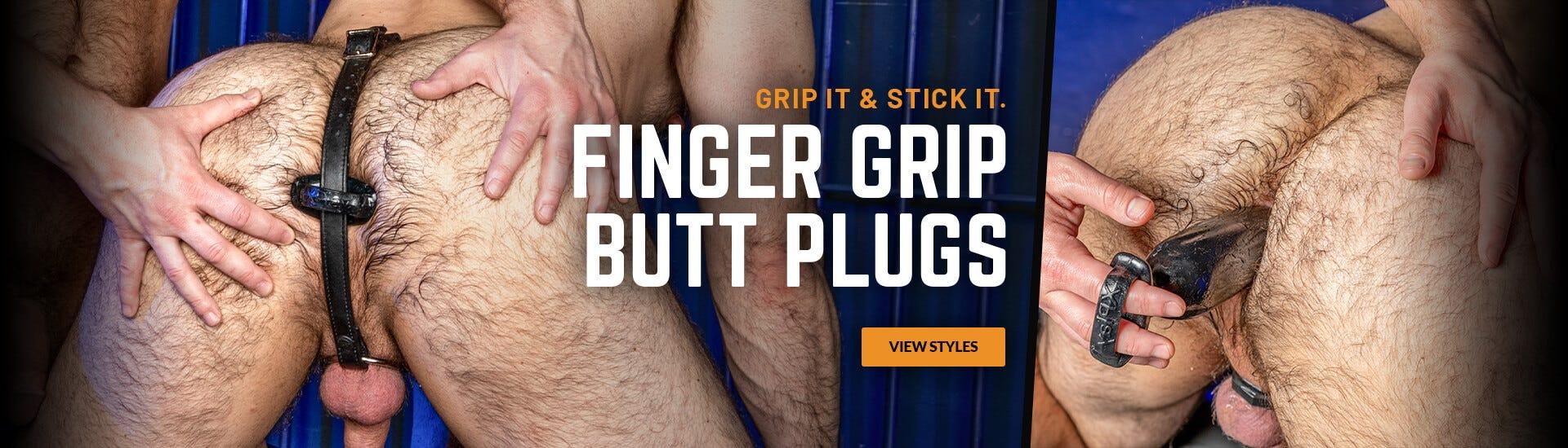 Finger grip Butt Plugs
