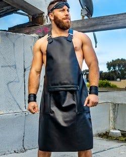Leather Sailor Front Apron