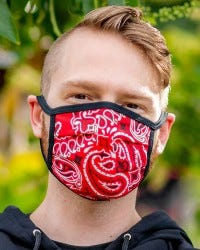 Reversible Hanky Face Mask - Red
