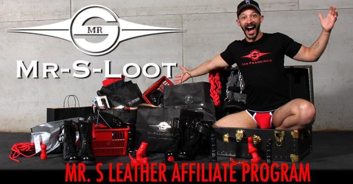 Mr. S Leather Affiliate Program Banner