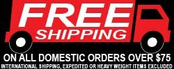 Free Shipping  on Orders over $75 - Click Here for Details